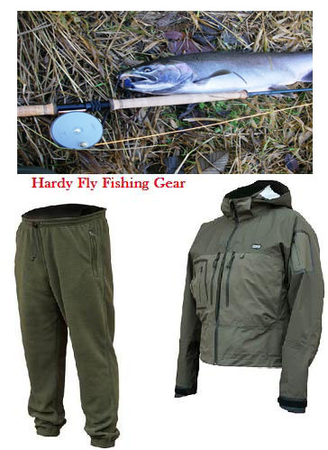 Hardy Fly Fishing Gear, reels, wading jackets