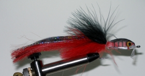 Bill's B.P. Musky Fly-Black-Red - Product Image
