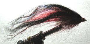 Bill's Figure 8 Sucker Perch Fly - Black & Red - Product Image