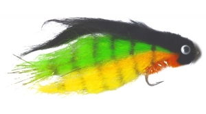 Sims' Saltwater Sluggo Black/Chartreuse Fly - Product Image