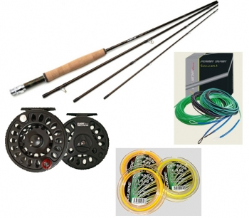 NO LONGER IN STOCK> Spey Rod Package by Guideline ACT 4, 13 ft 7 in fly rod, reel, flyline, running line - Product Image