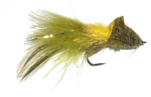 Badger Tail Diver Fly - Olive/Yellow - Product Image