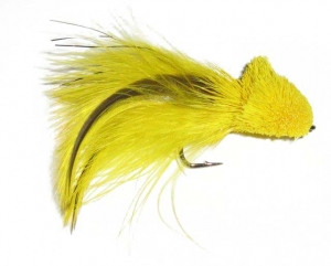 OUT OF STOCK---Badger Tail Diver Fly - Yellow - Product Image