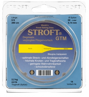 Stroft GTM Fly Leaders - 9ft - Product Image